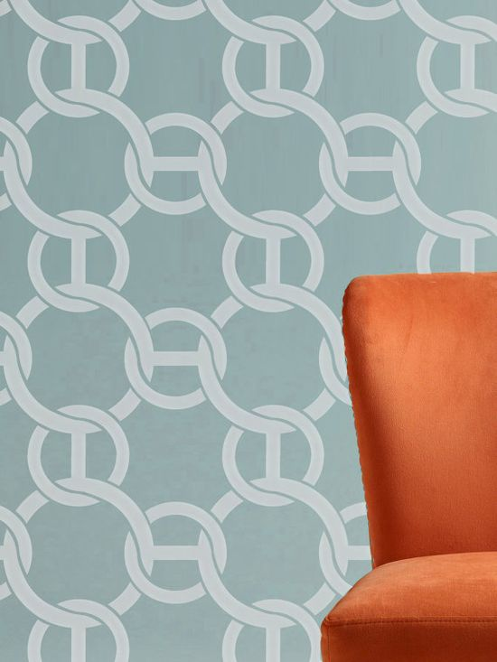 Wall Stencil  Nautical Rope Circle Chain Trellis Allower Pattern Room Decor Made by OMG Stencils Home Improvements Color Paintings 0078