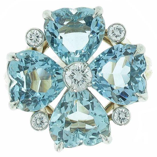 Cartier Aquamarine Diamond Ring, 1950s