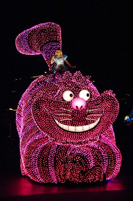 Pink Cheshire Cat ~ Disney Light Parade