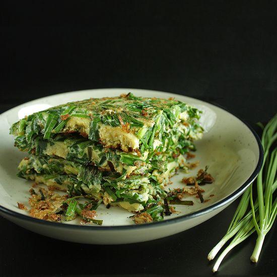 // chives pancake