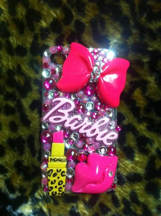 Barbie Girl MAC Makeup Iphone Case 4G/4S. $30.00, via Etsy.