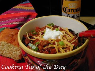 Cooking Tip of the Day: Recipe: 30 Minute Chili