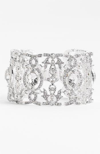 Nina 'Angelica' Wide Crystal Line Bracelet #Nordstrom #Wedding