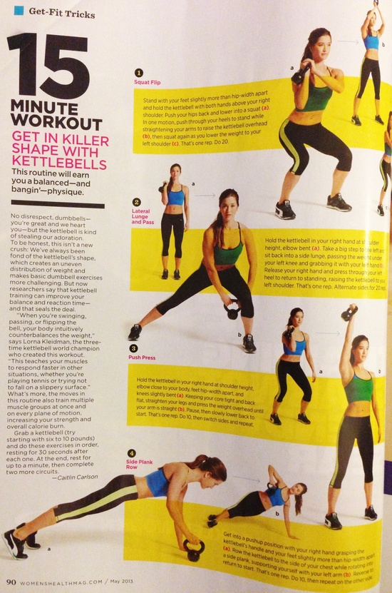 15 Minute Kettlebell Workout // Women's Health