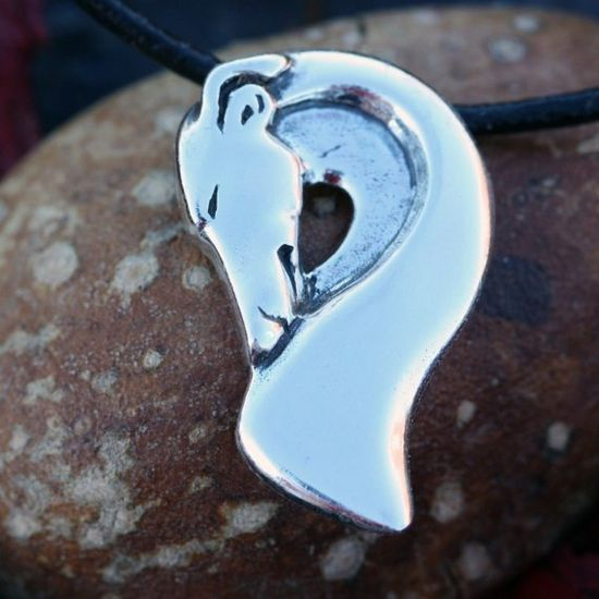 Sterling Silver Greyhound Whippet pendant by Sarah Regan Snavely