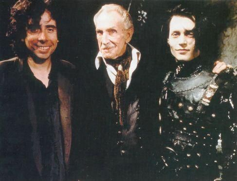 Tim Burton,Vincent Price and Johnny Depp