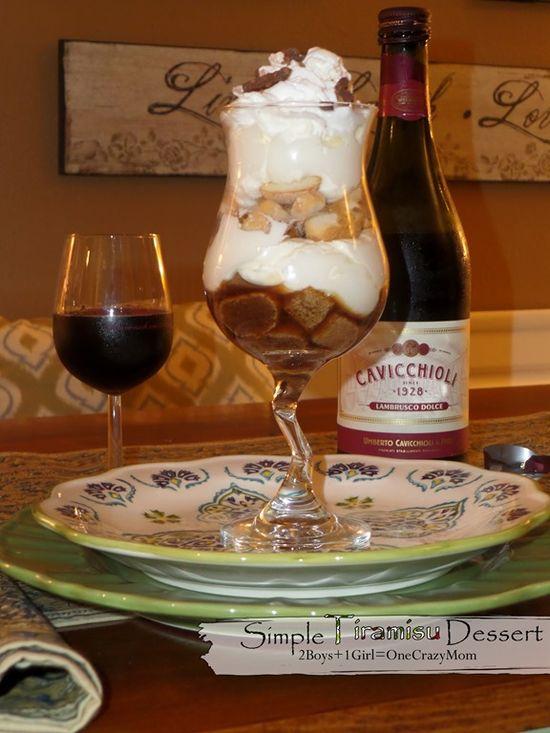 Viva Italia with a #Simple Tiramisu Dessert Recipe in no time via Two Boys One Girl and Crazy Mom >> #WorldMarket Fall Cooking #Recipes #GourmetGetaway