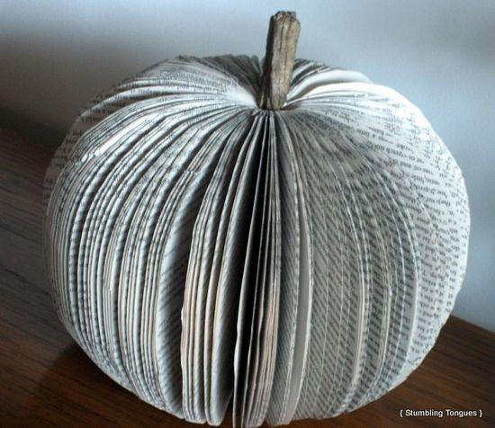 Book pumpkin tutorial