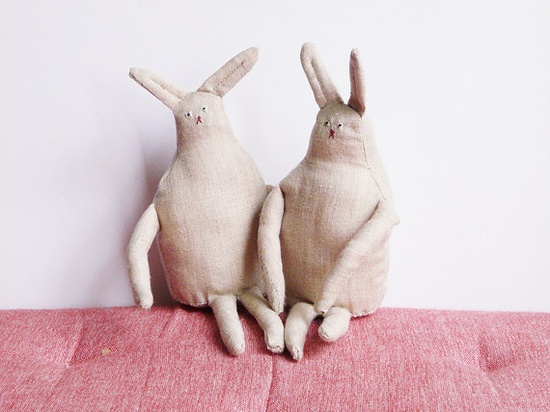 handmade rabbits!