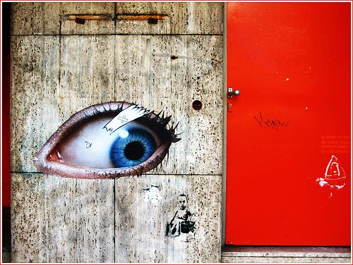 eye street art graffiti