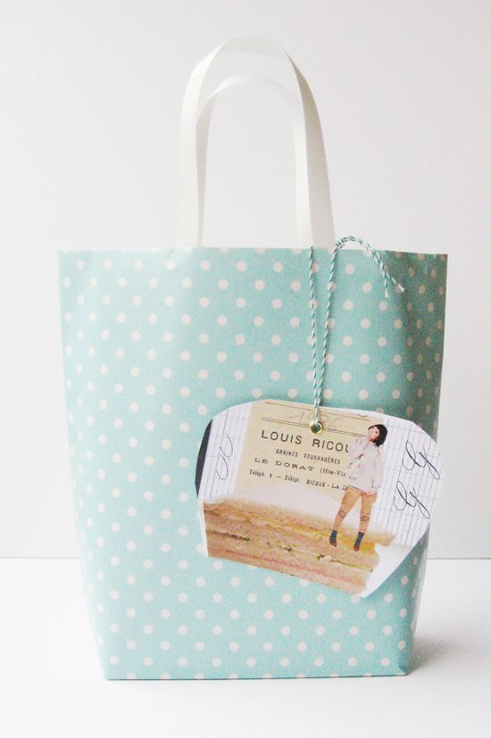 wrapping paper bag diy