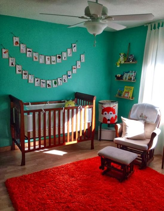 our small town LOVE: Baby B's Woodland Nursery