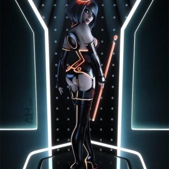 3D Art: Tron Pinup