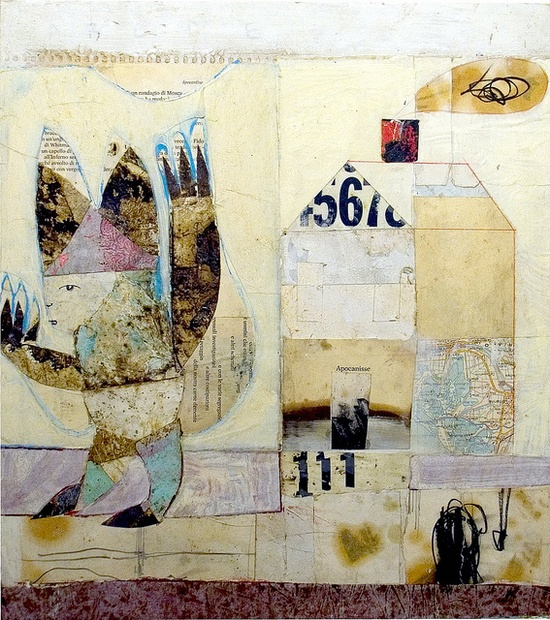scansafatiche by Matteo Cocci - mixed media on wood.
