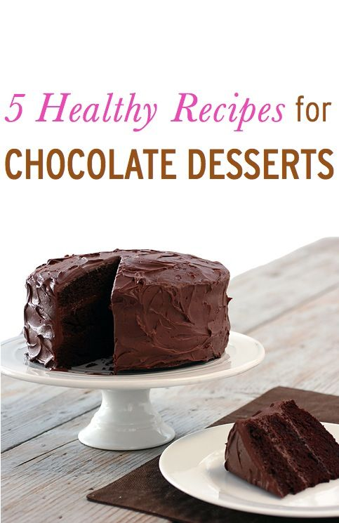 Healthier Chocolate Desserts, 5 Easy, Lower Calorie Dessert Recipes with Chocolate