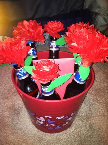 love this idea for valentines day as a boyfriend gift- beer roses
