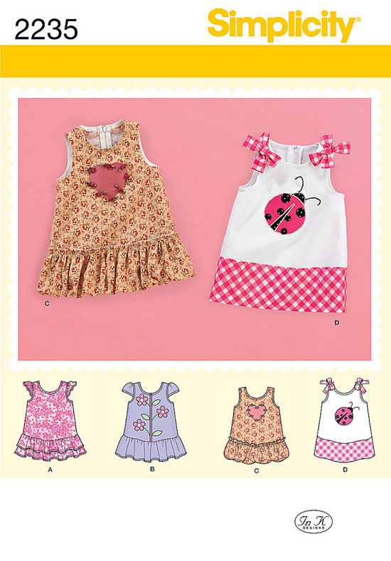 Simplicity 2235 Babies' Dress Pattern with by MakingStuffUP, $4.50