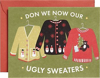 Ugly Sweaters Holiday Cards