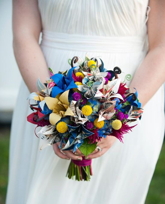 Oragami Bridal Bouquet // Justin & Mary Photography