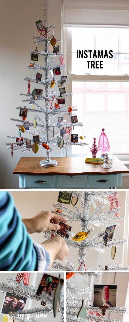 Instamas Tree! Decorate your Christmas tree with ornaments made from your Instagrams. A unique way to display your photos and remember your year. Find out how easy it is at Inspired by Charm: www.inspiredbycha...  #12daysofChristmas