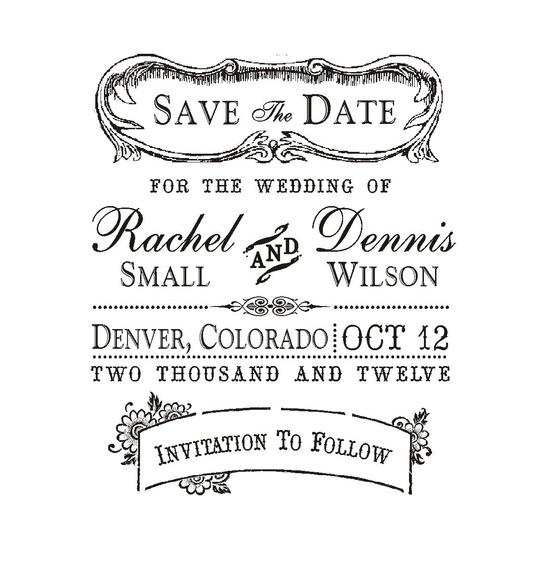 Vintage Save the Date Stamp. $26.00, via Etsy.