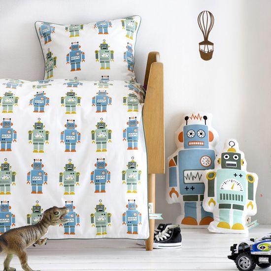robot crib bedding