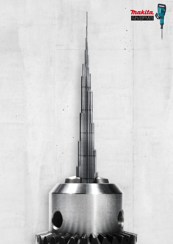 Makita: Burj Khalifa #Advertising