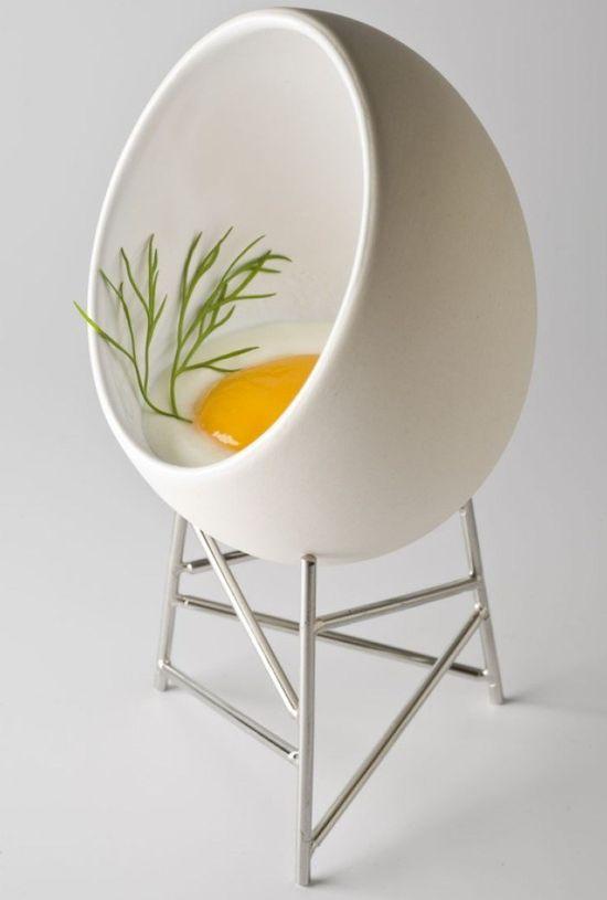 Egg Chair For Food Art Fashion Paris Design Week. #releitura #design #ovo #egg #chair #cadeira