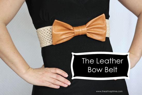 The Leather Bow Belt
