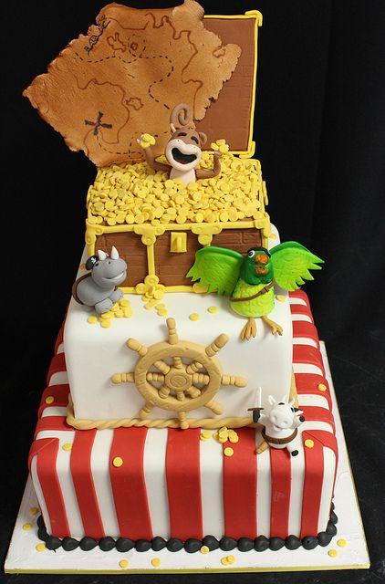 Pirate animal med by Amanda Oakleaf Cakes, via Flickr