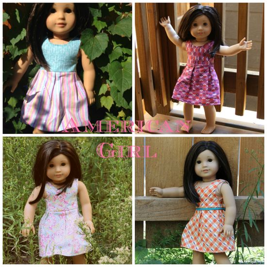 "FREE pattern for Katie Dress by Sew Like My Mom, 18"" doll dress"