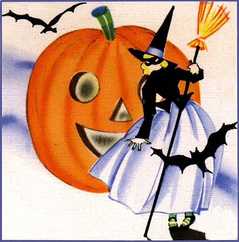 Vintage Halloween graphic