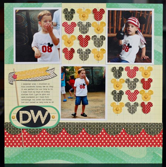 #mickey #scrapbook #layout