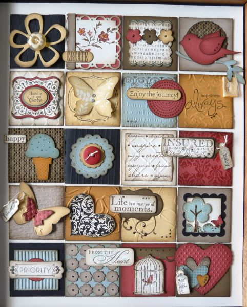 Stampin' Up! shadow frame box collage
