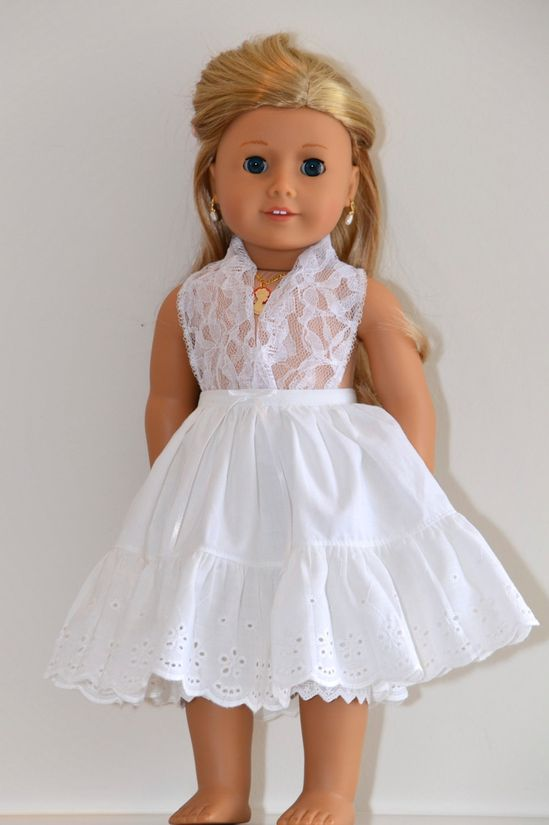 Eighteen Inch American Girl Doll clothing ensemble. Historical 1850's gown.. $120.00, via Etsy.