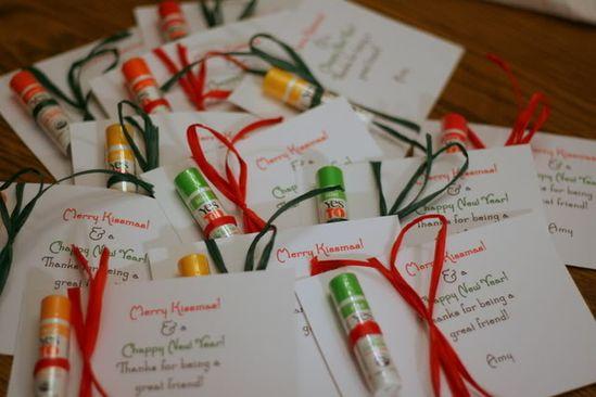 Merry Kissmas & a Chappy New Year! Cute & Simple friend Christmas gift.