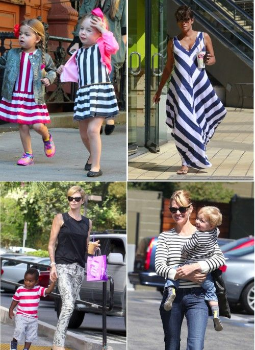Fashion Trend: Celebrities Step Out In Stripes