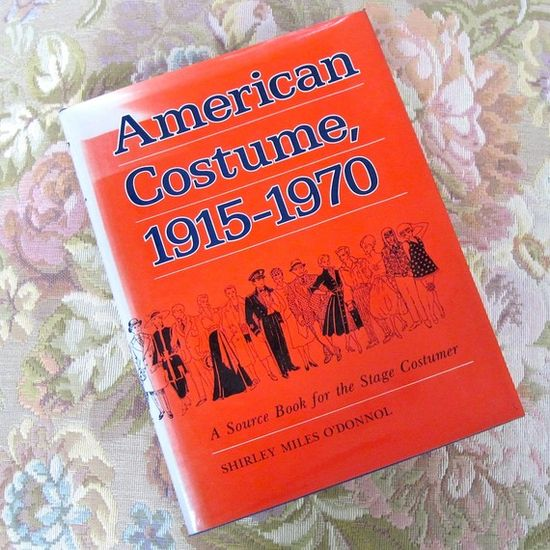 American Costume 1915 1970 Vintage Theatre Book by Shirley O'Donnol by ProsperosBookshelf