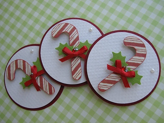 Christmas Candy Cane Embellishments by vsroses.com, via Flickr