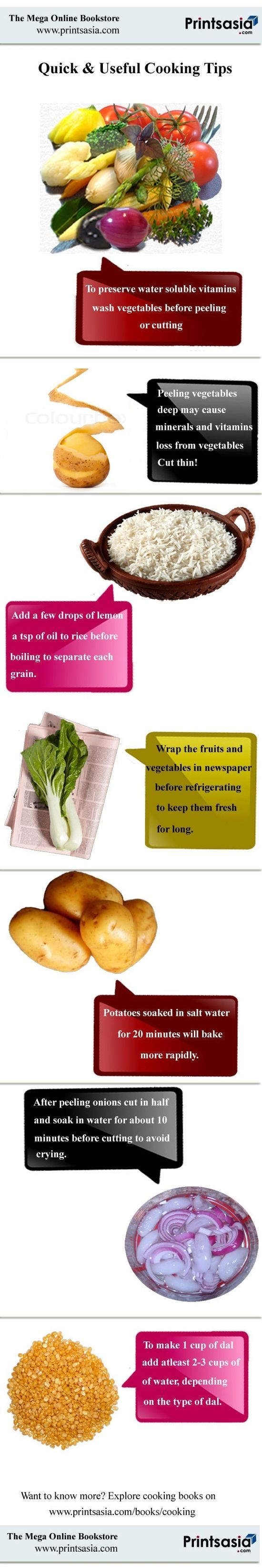 Quick & Useful Cooking Tips