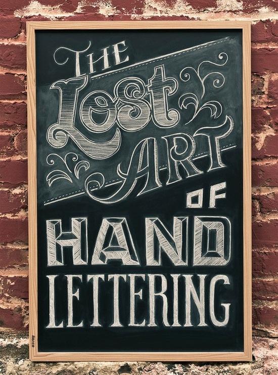 'hand lettering' chalkboard art . . .