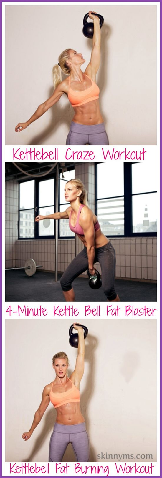 Top 3 Kettlebell Workout Routines - Fat Burning Workouts. Kettlebells are all the rage - and for a good reason! #kettlebell #workout #routines #fatloss #best #toning #skinnyms #fitness
