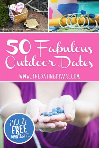 Get ready for some outdoor fun! We have a collection of 50 different outdoor dates for you to enjoy! www.TheDatingDiva... #creativedates #outdooractivities #summerfun