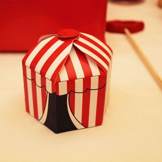 Circus/Carnival Party PRINTABLE/DIY Decorations, Circus Tent Favor Box