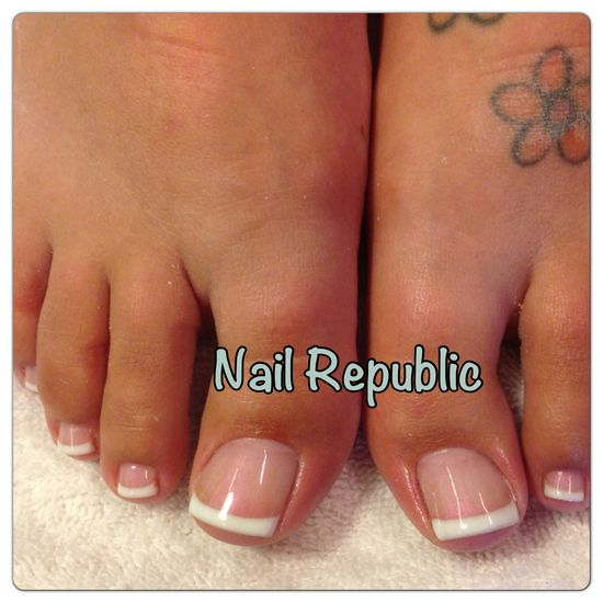French Toes Nails