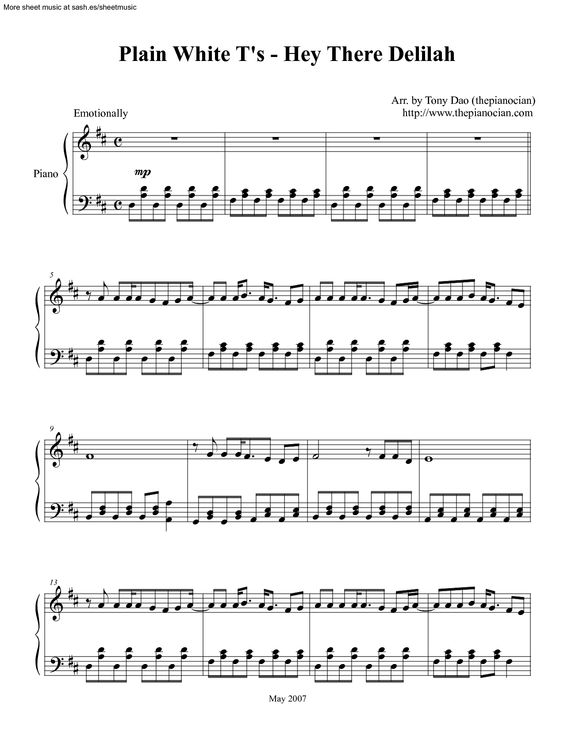 Hey There Delilah Chords For Guitar Choice Image - guitar chords ...
