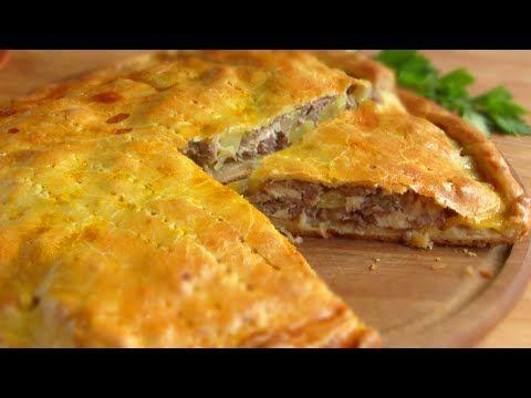Вкусный пирог с картошкой и фаршем в духовке рецепт с пошаговый
