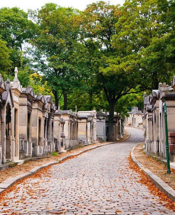 the Père-Lachaise cemetery: