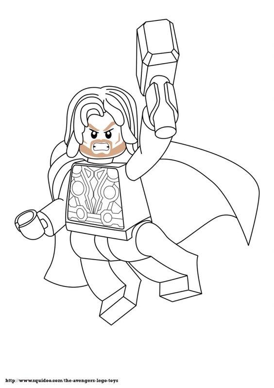 Ideen An Lego Wunder Superhelden Thor Malvorlagen Marvel F Sketch ...