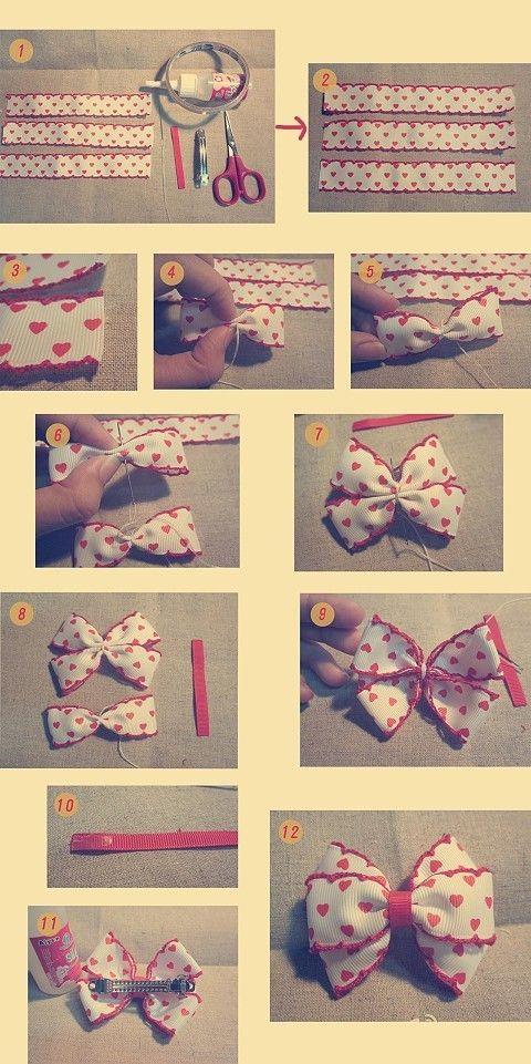 Как сделать своими руками бантики из ткани